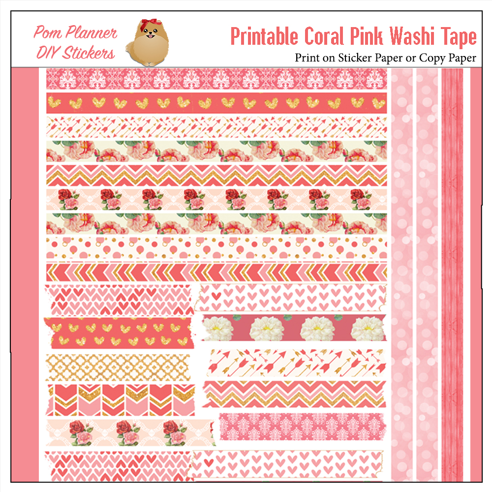 It's just a graphic of Free Printable Washi Tape regarding floral